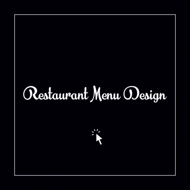 Restaurant Menu Design Portfolio